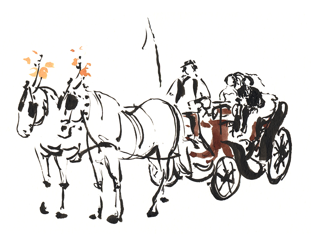 Carriage with grooms, 2012