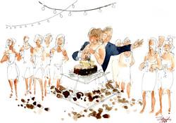 Cutting the cake. 2018
