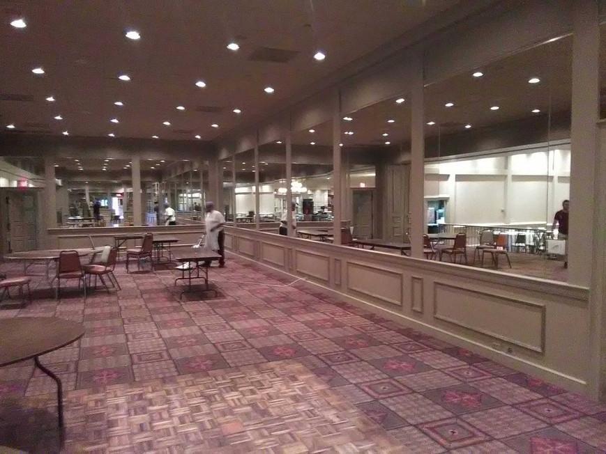 Ballroom mirrored wall