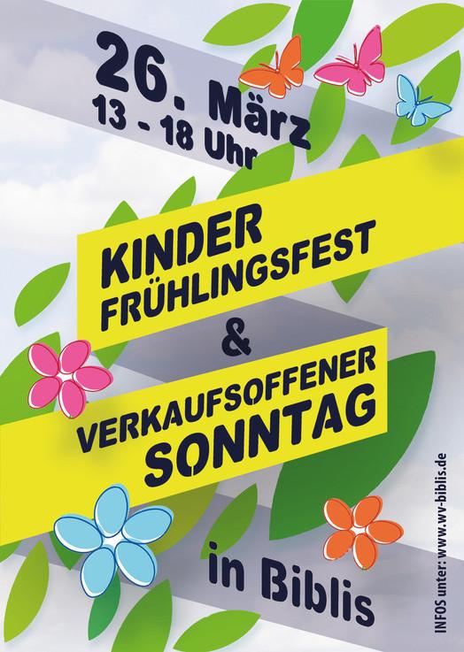 Kinder-Frühlingsfest & Verkaufsoffener Sonntag