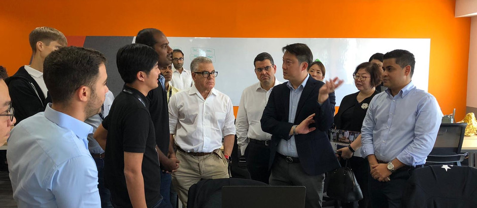 Visit by Senior Minister of State (Dr Lam Pin Min) and the influential Mr Idan Ofer