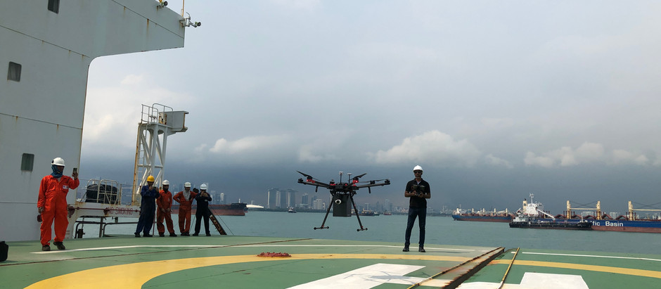 F-drones conducts drone tests with Schulte Group & Mitsui
