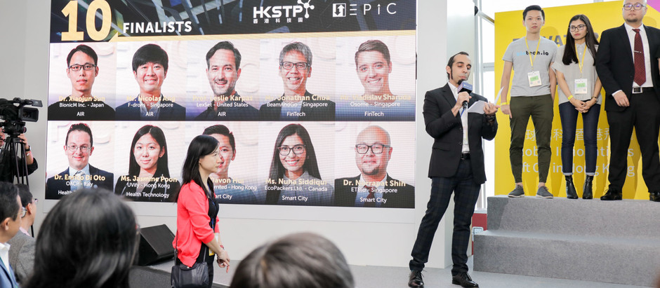 F-drones awarded Top 10 startup pitch at the Elevator Pitch Competition in Hong Kong!