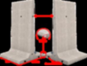 Elements de  silo beton en T