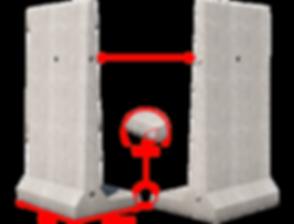 Elements de silo beton en L