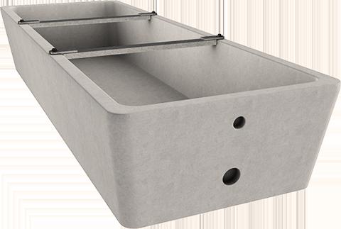 Abreuvoir beton socamac 3mx1m Barre anti