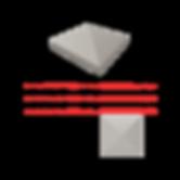 Chapeau diamant pour pilier de portail