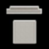 Chapeau plat pour pilier de prtail
