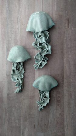 Jellyfish Wall Sculptures Chelsea Mae
