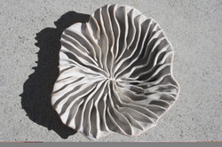 White heatwave bowl or wall sculpture Chelsea Mae