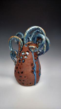 octopus wet vase