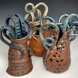 Tentacle Vaes blue and brown Chelsea Mae