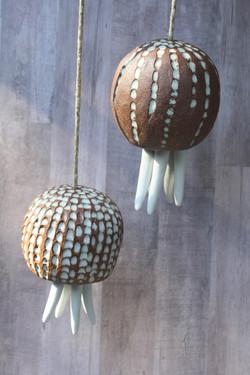 Jellyfish and urchin bells Chelsea Mae