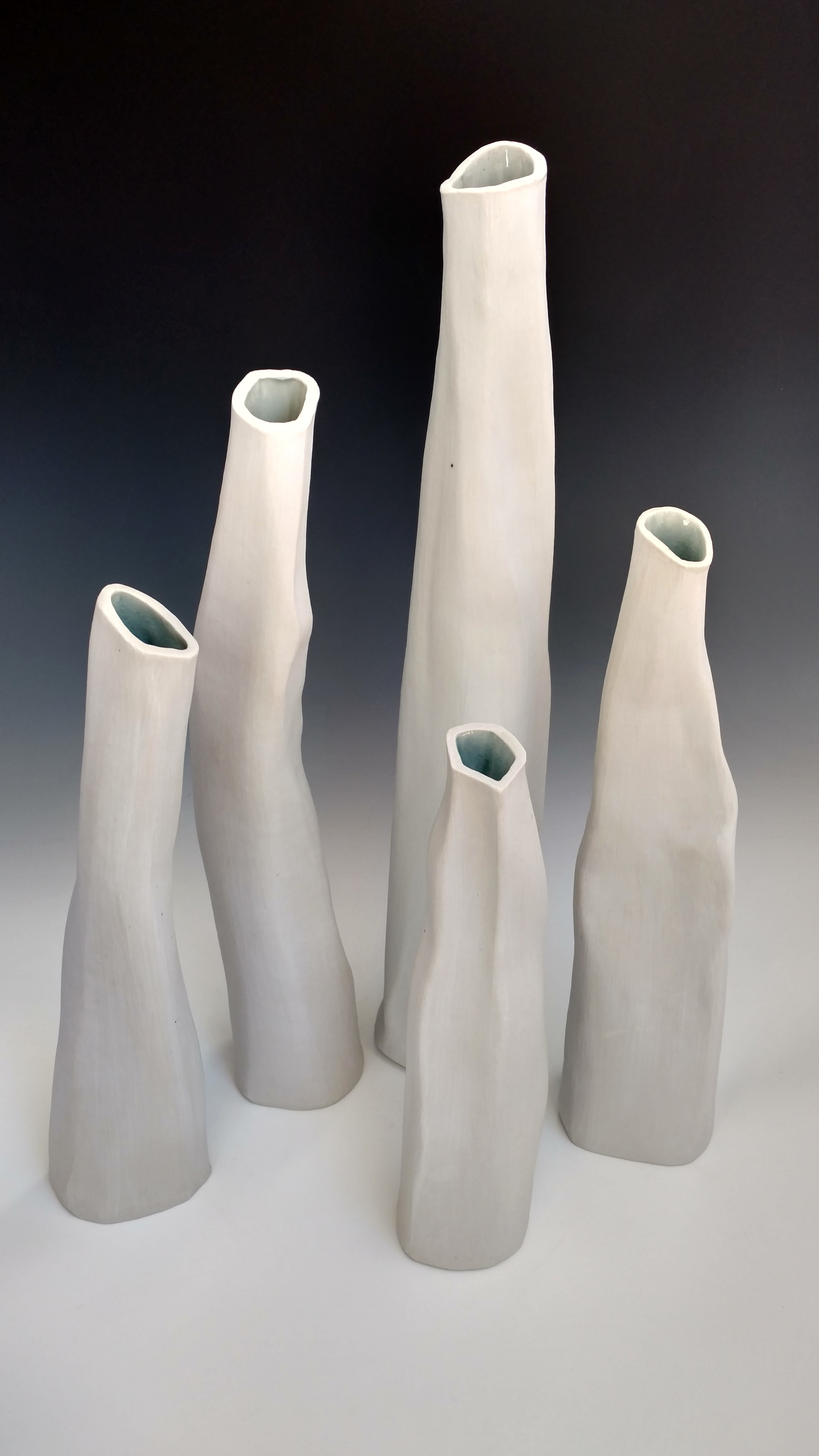 Crumpled vases