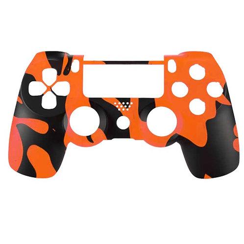 PS4 Black and Orange Camo