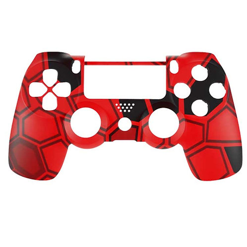 PS4 Hex Camo Red