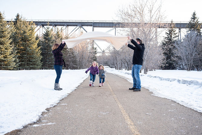 Fun family photo by edmonton family photorapherat Hermitage Park