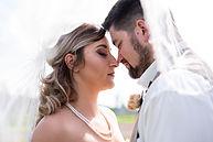 Bride nd Groom at the St. Albert Trestle bridge by Professional edmonton photographer