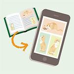 アイコン_B3_紙の本:文章+多数の画像を使用する場合_B3_11_電子データ