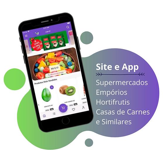 Site e App para supermercado, empório, hortifruti, casa de carne e similares