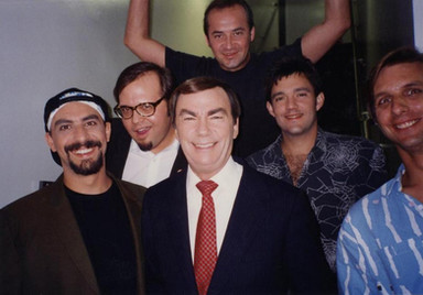 With Sam Donaldson