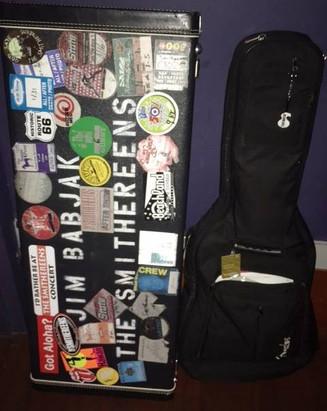 Jim's guitar case