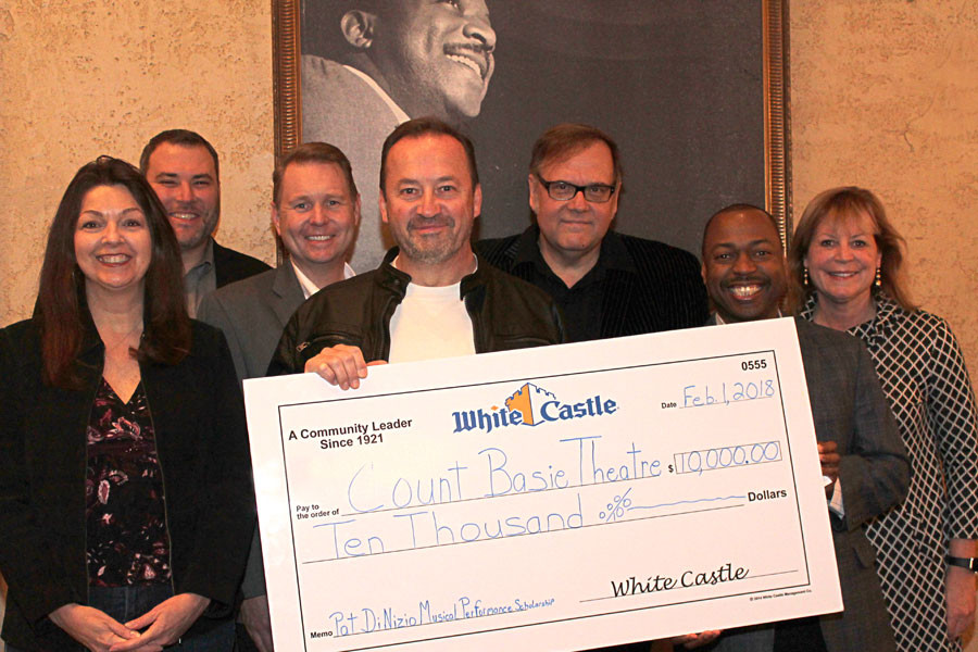White Castle presents check for $10,000 to the Count Basie Theatre