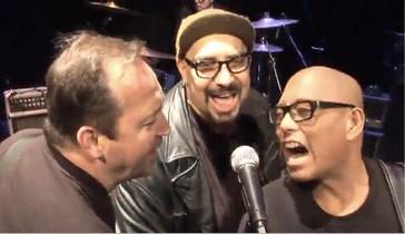 Jim Babjak, Pat DiNizio and Severo Jornacion (aka The Thrilla)