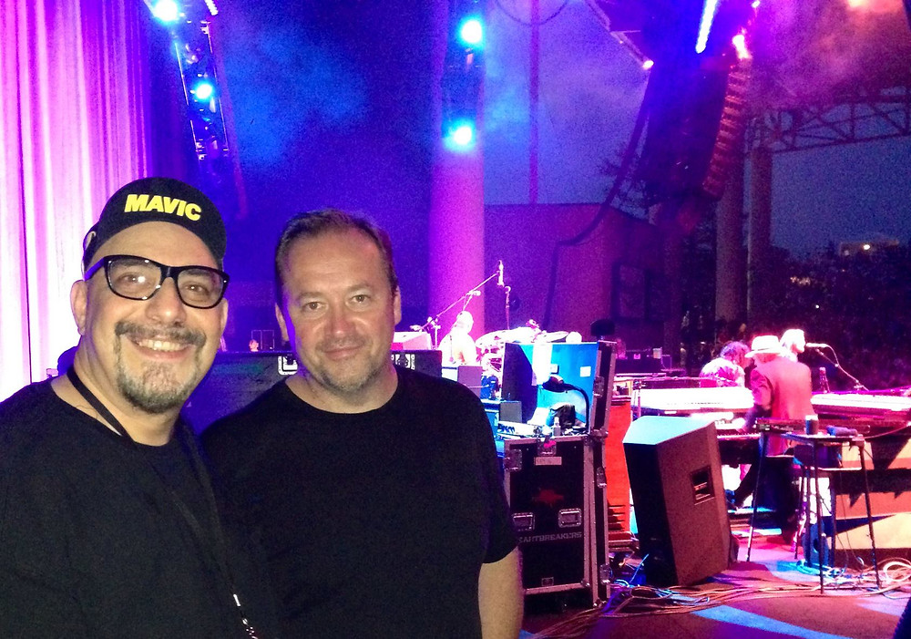 Pat DiNizio and Jim Babjak backstage at a Tom Petty concert