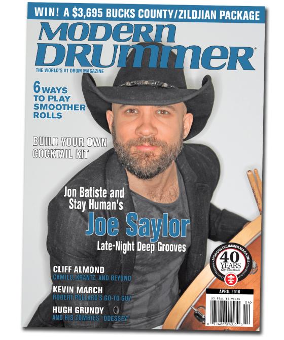 Modern Drummer April 2016