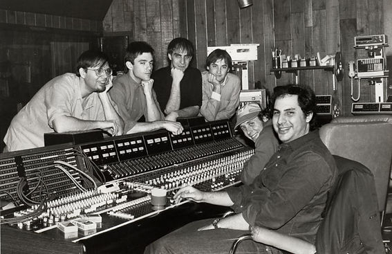 The Smithereens in the studio recording Beauty and Sadness