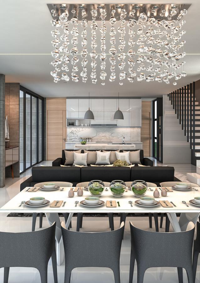 3-4-5-Bedroom-2 storey-Living-Dining-Roo