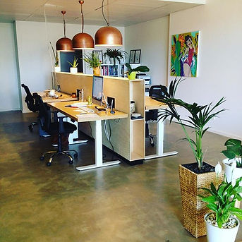Our new flexible workspace, open plan to