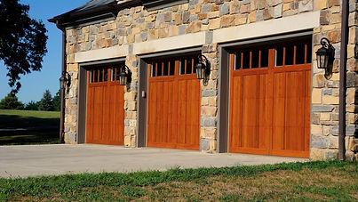 5700/5400 Carriage House Wood Overlay w/Optional Madison Window Inserts