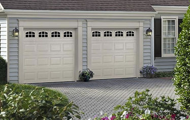 Traditional, Short Panel Garage Door, with Cascade Windows