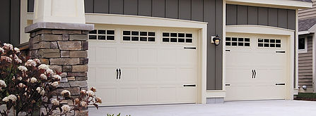Steel Garage Door, Carriage House, Short Panel w/Optional Stockton Window Inserts