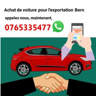 Achat de voiture pour l'exportation Bern