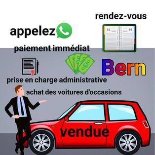 achat de voitures d'occasion à Berne
