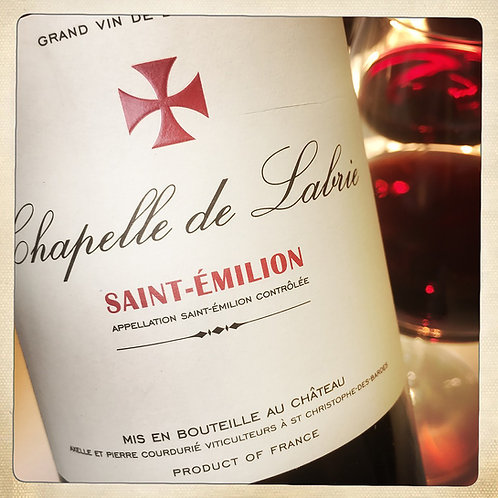 Vin rouge CHAPELLE 2011 - Bordeaux - Château Croix de Labrie