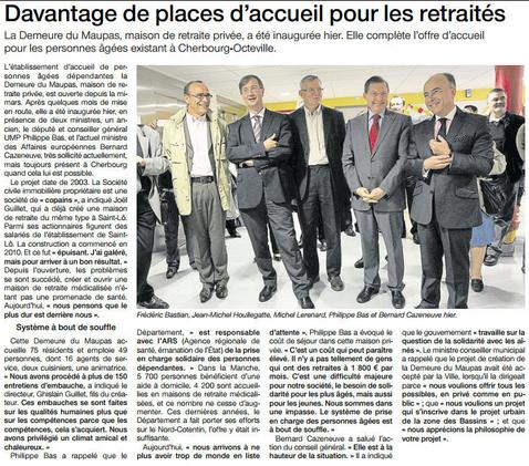 20121006 - OUEST FRANCE -  OCTOBRE 2012