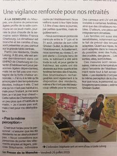 20190726- PRESSE DE LA MANCHE - ARTICLE