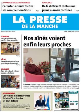 20200420 - PRESSE DE LA MANCHE - Une de