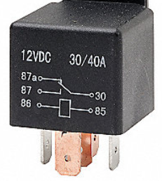 An electrical relay.