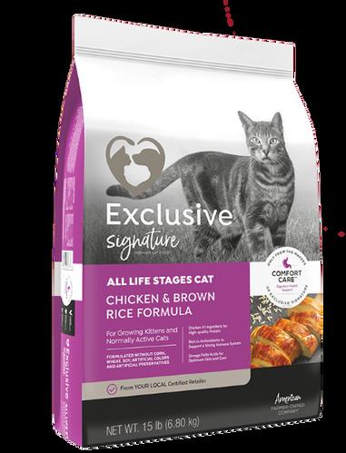 Exclusive® Cat Food Chicken & Brown Rice Formula