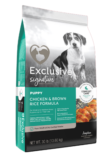 Exclusive® Puppy Food Chicken & Brown Rice Formula