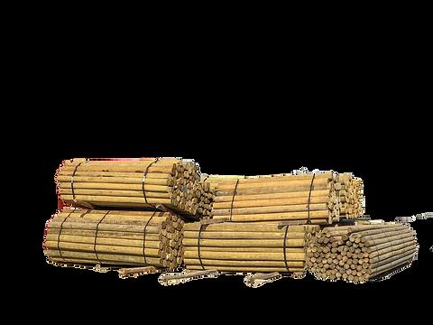 wood posts and rails