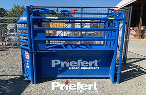 """Overall Height: 63"""" Overall Width: 36"""" Inside Width at Top: 30"""" Inside Width at Bottom: 14"""" Overall Length: 86"""" Weight: 476 lbs (All weights approximate) Color: Priefert Blue"""