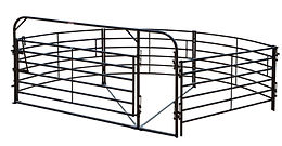 This rugged, completely reversible crowding system includes a 135 degree sweep and is ideal for use as part of a permanent installation or as part of a portable working corral.