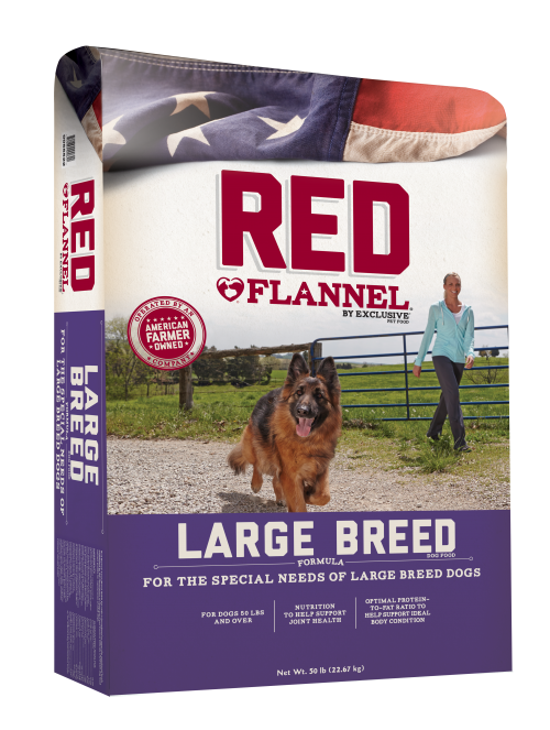 Red Flannel Large Breed Adult