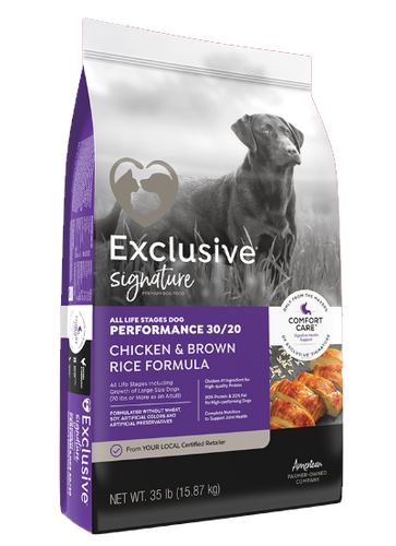 Exclusive® Performance 30/20 Chicken & Brown Rice Formula Dog Food